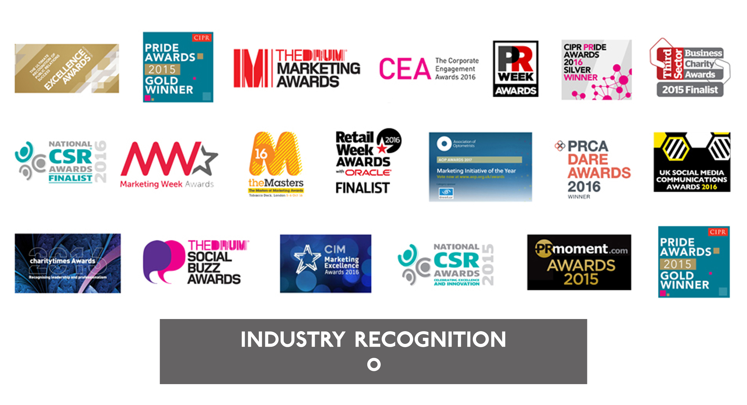 The Tonic Comms - Industry recognition