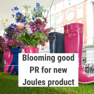 The store front showcasing the Joules' product launch