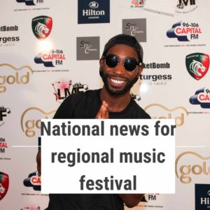Festival PR partner for event in Leicester featuring Tinie Tempah