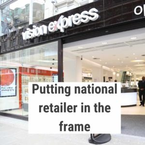 The Tonic was PR agency for optician Vision Express, which has over 600 stores