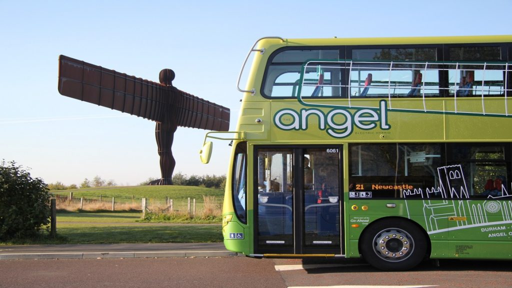 Go North East buses work with The Tonic as their content agency