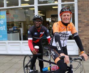 Charity cycle ambassadors Bryan Steel and Darren Harris